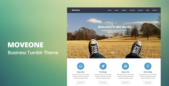 Moveone - Business Responsive Tumblr Theme