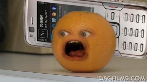 我手機換了新鈴聲: Annoying Orange Wazzup (含鈴聲下載)