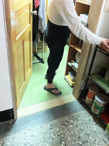 我爸穿 Legging (2)