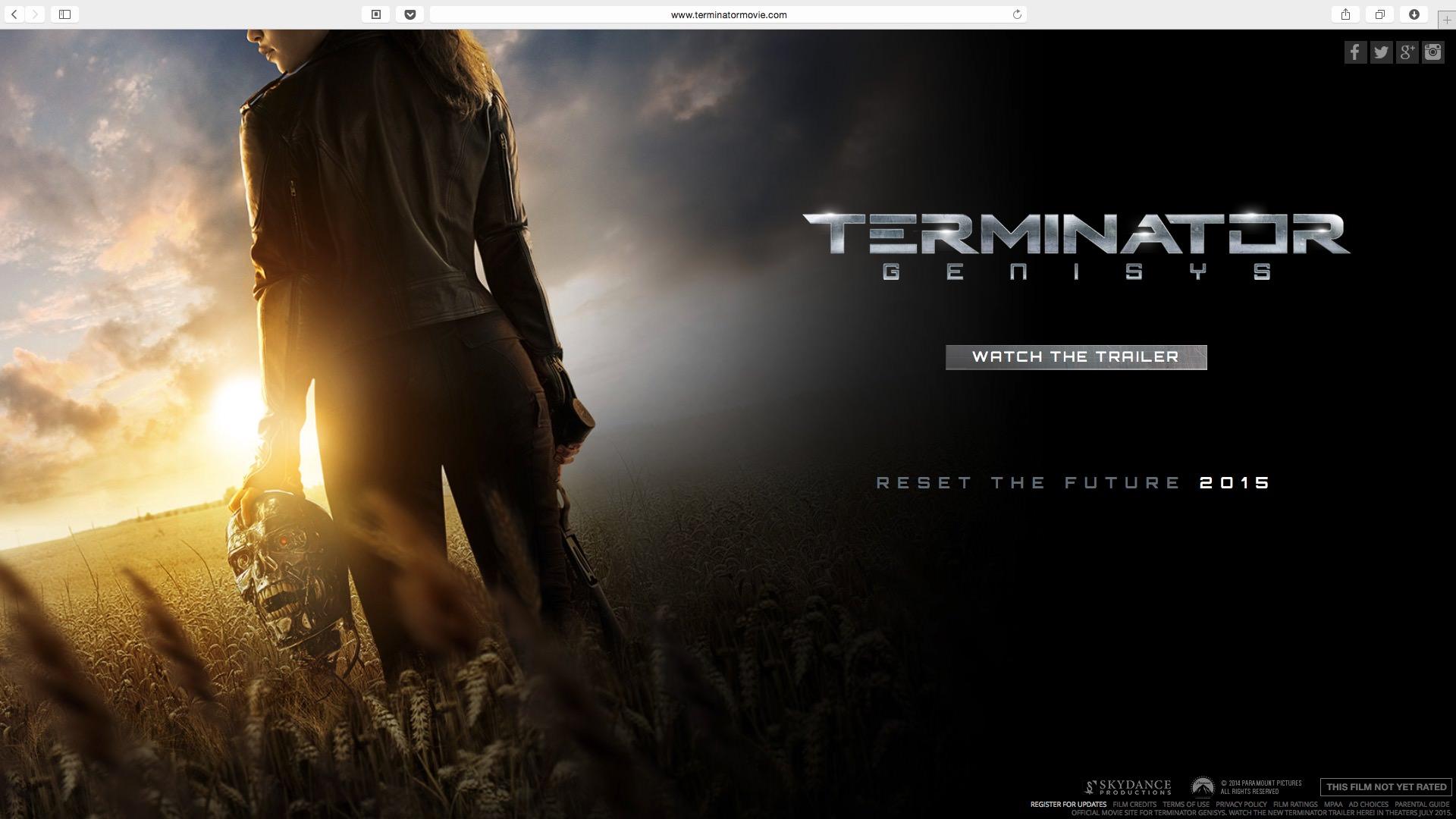《Terminator Genisys》官網