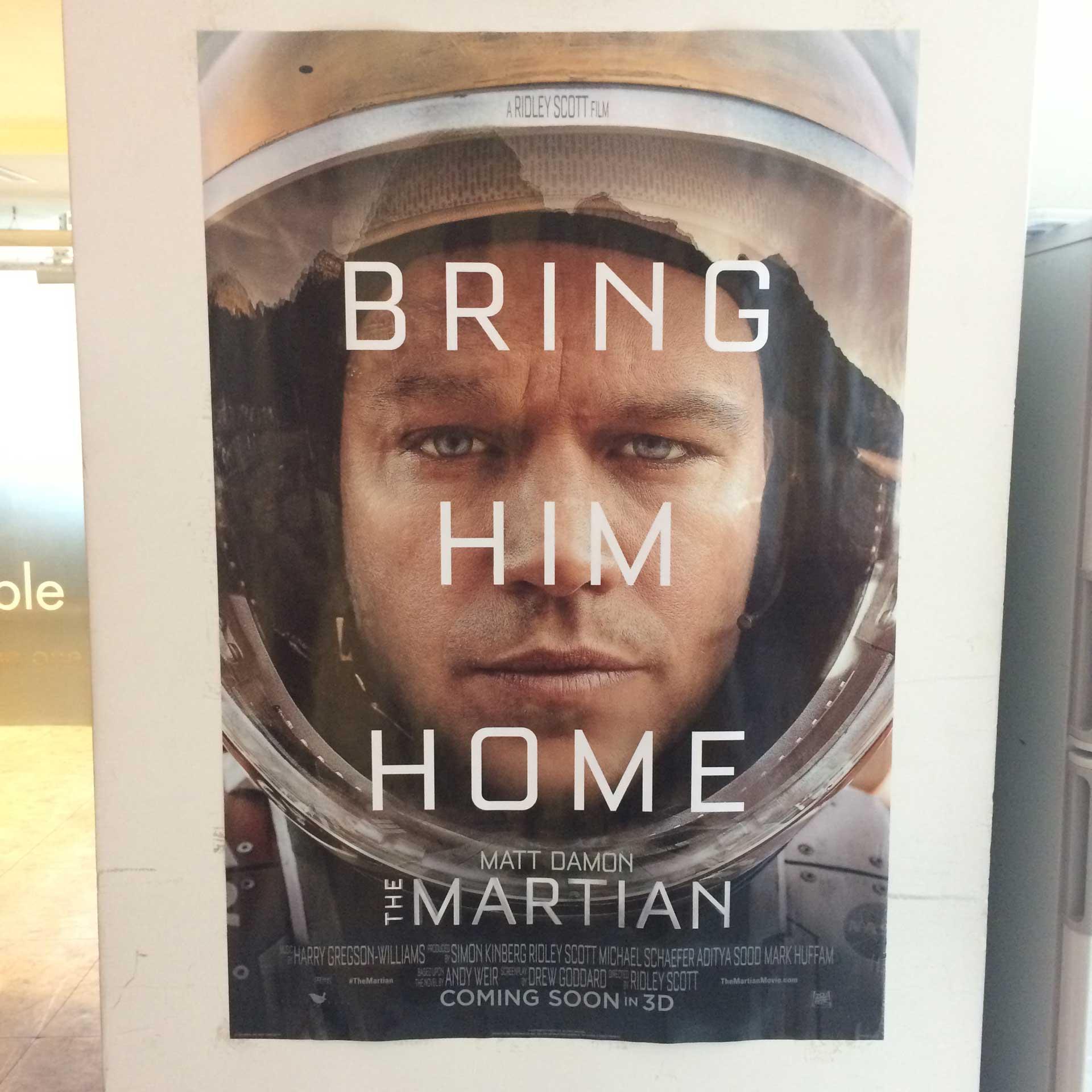 「絕地救援」電影海報所使用的字體