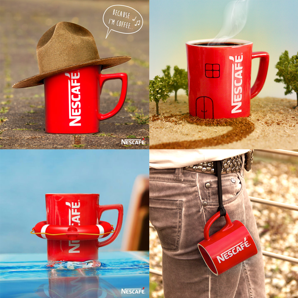 搭配雀巢咖啡新 Logo 的內容行銷素材大多都是貼近生活的軟性素材,以方便在社群之間傳遞(圖片引用自 Brand New)